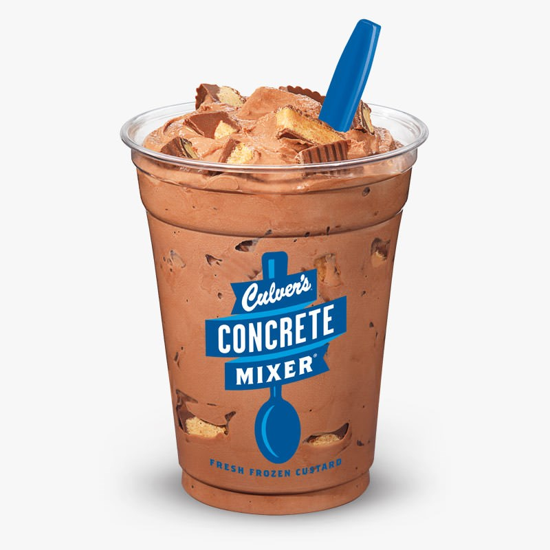 Culver S Chocolate Reese S Concrete Mixer Tall