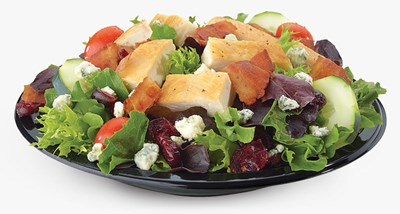 Cranberry Bacon Bleu Salad with Grilled Chicken